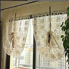 Amazon Lace Kitchen Curtains by Amazon Com Lace Window Curtain French Crochet Window Panels