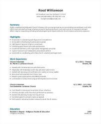 Volunteer On Resume Example