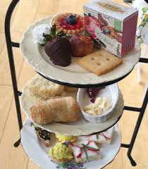 We Serve A Traditional Scottish English Tea Service With Tiered Racks High Includes Finger Sandwiches Petit Fours Scones Fairy Cakes