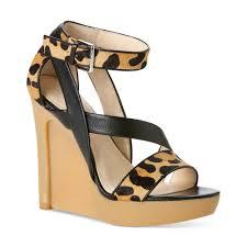 calvin klein dani platform wedge sandals in black lyst