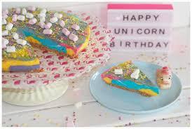 happy birthday no bake geburtstags einhornkäsekuchen