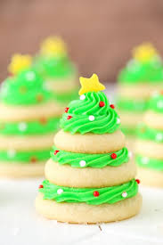 Christmas Tree Cookie Stacks Vertical