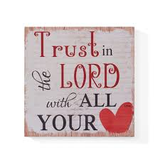 100 Lord B DANYA Inspirational Trust In The Wooden Wall Art SignCU25576