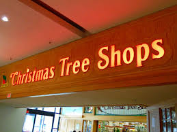 Christmas Tree Shops Sign