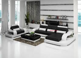 canape d angle noir et blanc canapé d angle cuir lyon italien design pas cher
