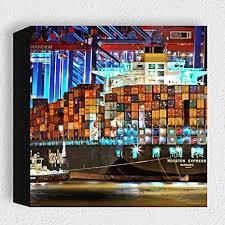 card hamburg hafen moderne kunstdruck holzbilder