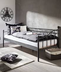 tagesbett in schwarz ca 90x200cm kaufen mömax