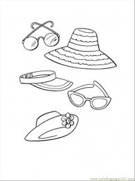 Beach Accessories Coloring Page