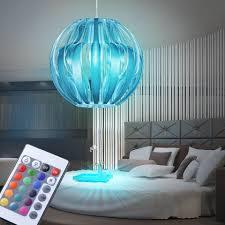 etc shop led pendelleuchte hänge decken leuchte schlafzimmer dimmer hänge le silber im set inklusive rgb led leuchtmittel kaufen otto