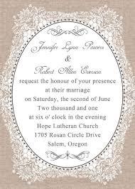 Rustic Burlap Wedding Invitations EWI174