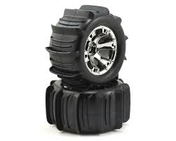100 Sand Tires For Trucks Traxxas Paddle 38 PreMounted W17mm Geode Wheels 2