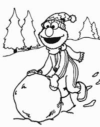 Wish Merry Christmas To Everyone By Offering His Coloring Pages For Free Hope Our Viewers Loved The Printables Showcasing Elmo Standing With Snowman
