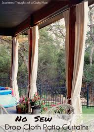 Diy Roll Up Patio Shades by Diy Patio Curtains From Drop Cloths With No Sewing Scattered