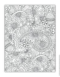Coloring Page PDF Adults And Children Printable Doodle Flowers At Pages Book