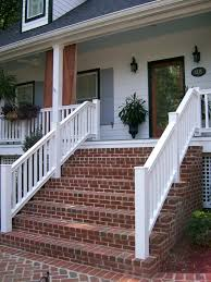 Brick Front Porch Step Clean and Freshly Front Porch Step