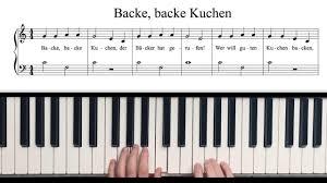 backe backe kuchen piano tutorial mit pdf kostenlos