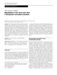 Hypertonic Pelvic Floor Exercises by Rehabilitation Of The Short Pelvic Floor Ii Treatment Of The