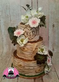 Rustic Birch Wedding Cake