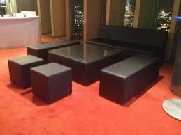 location de canapé location de canapé modulo noir location mobilier de réception