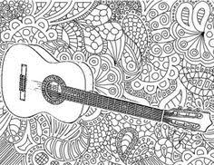 Adult Coloring Pages Guitar
