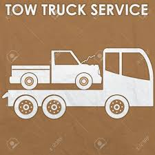 100 Free Tow Truck Service Sign By Old Corrugate Paper Royalty Cliparts
