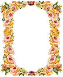 Free Digital Vintage Flower Frame Png With Transparent Background Peach Colored