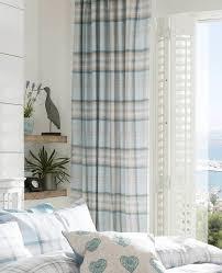 Amazon Uk Living Room Curtains by Tartan Check Curtains Black Grey U0026 Teal Blue Curtain Pair Ring