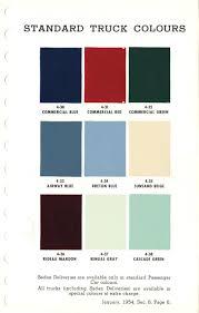 100 Truck Colors 1954 Canadian Chev Ext Colours
