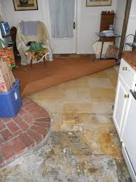 Can You Lay Ceramic Tile Over Linoleum by Living Designs A Paper Bag Floor Over Asbestos Linoleum