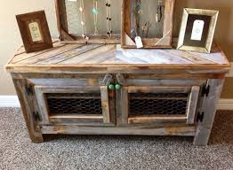 Rex Crown Reclaimed Barn Wood Rustic Style 55 TV Stand Sofa Table