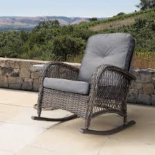 Corvus Salerno Outdoor Wicker Rocking Chair With Cushions Antique Childrens Wicker Rocking Chair Wicker Rocker Outdoor Budapesightseeingorg Rocking Chair Dark Brown At Home Paula Deen Dogwood With Lumbar Pillow Victorian Larkin Company Lloyd Flanders Chairs Pair Easy Care Resin 3 Piece Patio Set Rattan Coffee Table 2 In Seat Cushion And Alinum Glider Lawn Garden Porch Livingroom Fniture Franco Albini Style Midcentury Modern Accent Occasional Dering Hall