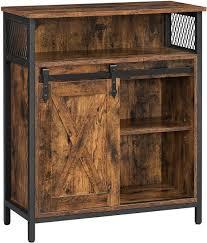 küchenschrank sideboard kommode industrial design schiebetür regalebenen vintagebraun schwarz