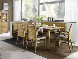 massivholz essgruppe modern set tisch 130x95 asteiche massiv geölt eckbank mit 2 stühlen polster leder polster braun casade mobila