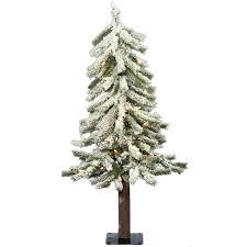 Vickerman Slim Flocked Christmas Tree by Amazon Com Vickerman Pre Lit Flocked Alpine Tree With 50 Clear