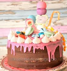 schoko himbeer torte im look drip cake küchencottage