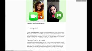 GET FaceTime for Android App Released