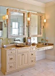 innovative lighted vanity mirror in bathroom traditional with
