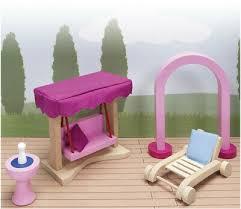 spielzeug goki susibelle puppenhausmöbel für den garten weiß
