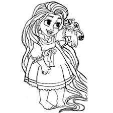 Excellent Inspiration Ideas Tangled Coloring Pages Printable 20 Beautiful Rapunzel For Your Little Girl