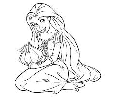 Rapunzel Coloring Pages Free Printable And