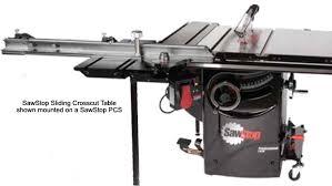 sawstop sliding crosscut table