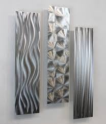 Silver Abstract Modern Wall Art Home Accent Decor