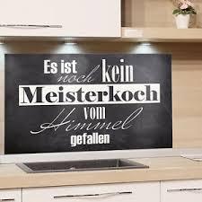 details zu spritzschutz herd küchenrückwand glas küche motiv grau stein spruch lustig koch