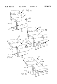 Morris Chair Recliner Mechanism by Patent Us5570930 Recliner Chair Seat Assembly And Method Of