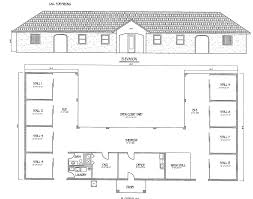 Shed Row Barns Plans by 3 Stall Horse Barn Floor Plans