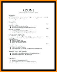 Collection Resume Examples Student First Job For High School Best