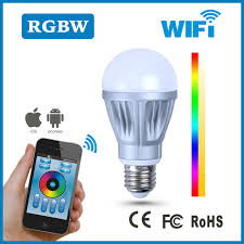 iphone controlled rgbw led bulb smart home aluminum and