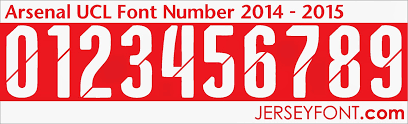 Arsenal 2014 2015 Font Number Fontai Pinterest