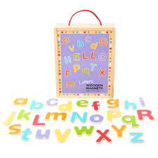 Bolcom Bigjigs Houten Magneet Letters Hoofdletters En Kleine