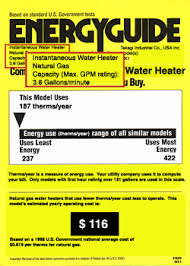 What Size Water Heater Do I Need Tankless EnergyGuide Label